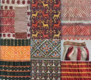 Народные орнаменты в украинской вышивке