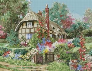 Схема Домик в деревне (лето) Схемы вышивки крестом Бесплатно Скачать схему Вышивки
