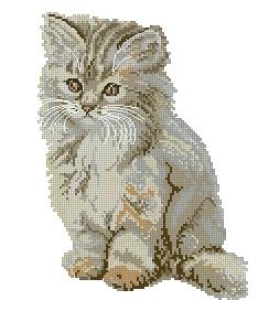 Схема Пушистый котенок