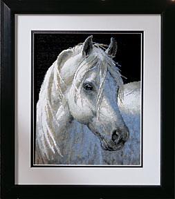 Схема Нежная сила (белый конь)