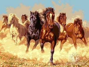 Схема Бег лошадей