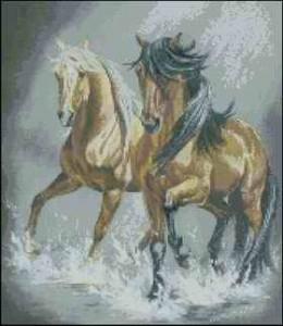 Схема Две лошади