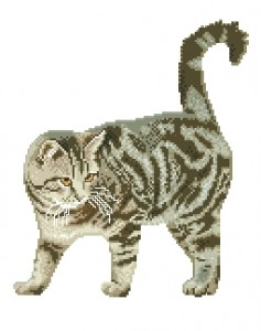 Схема Кот полосатик