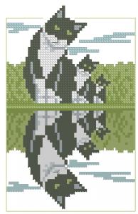 Схема Кот возле воды