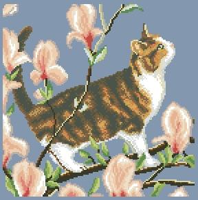 Схема Весенний кот