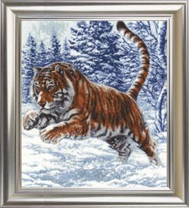 Картинки вышивки тигр