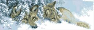 Схема Волки в снегу