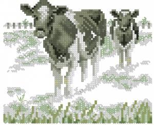 Схема Коровы на лугу