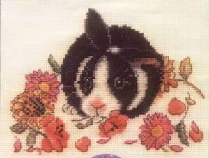 Схема Кролик с цветами