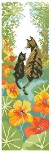Схема Следуй за мной! (Кошка с котенком в цветах)