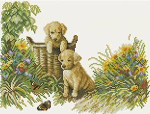 Схема Игривые щенки