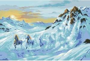Схема Лавина лошадей (G 564 Avalansa cailor)