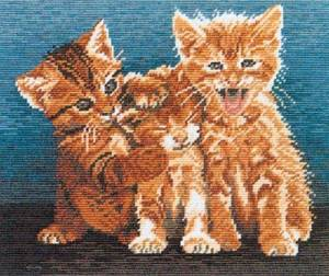 Схема Котята Трио(Wiehler 3592-4 Trio of Cats)