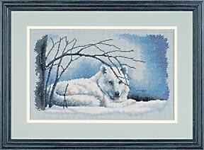 Схема Волк на снегу
