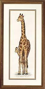 Вышивка жирафик