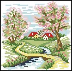 Весна вышивка крестом схемы бесплатно
