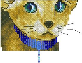 Схема Породистый котенок (маленькая схема)