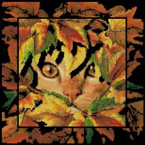 Схема Кот в листьях
