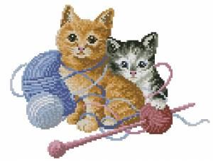Схема Котята с нитками