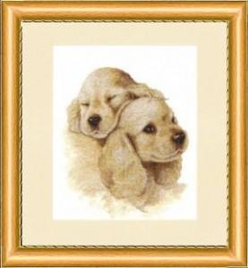 Схема Милая парочка щенки
