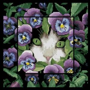 Схема Кот в цветах