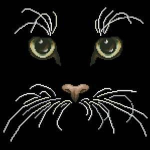 Вышивка крестом схемы чёрный кот