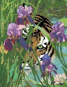 Схема Тигр в ирисах