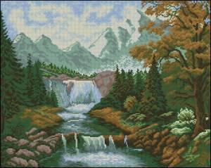 Вышивка водопада скачать бесплатно