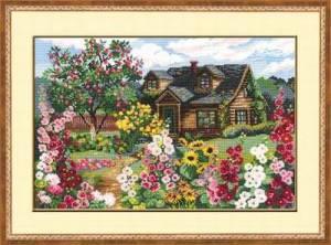 Схема Дом в цветущем саду