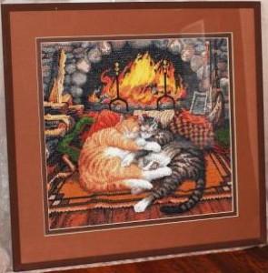 Схема Коты возле камина (All Burned Out)