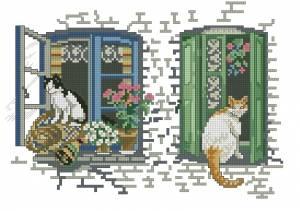 Схема Кошки на окошке
