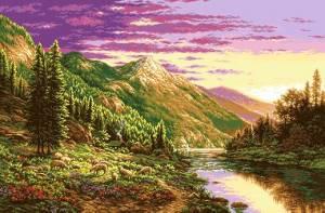 Схема Альпийский пейзаж
