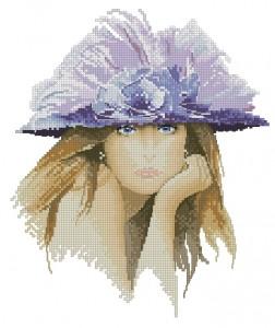 Схема Голубоглазая девушка в шляпе