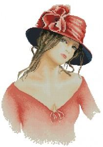 Схема Девушка в красном