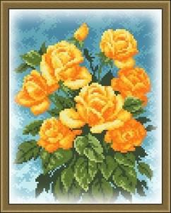Схема желтые розы