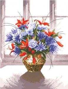 Схема Латуневая ваза с цветами / Brass Vase