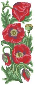 Схема Маки пано / Flowers Collection. Poppies