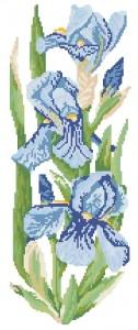 Схема Ирисы пано / Flowers Collection. Irises