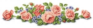 Схема Линия из роз (на скатерть)