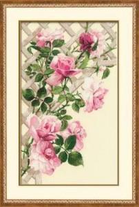 Схема Роза на плетене