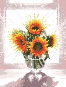 Схема Подсолнухи в стеклянной вазе / Glass Vase