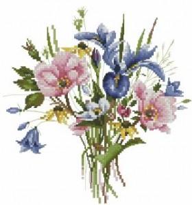 Схема Полевые цветы букет/Wild Flower Posy