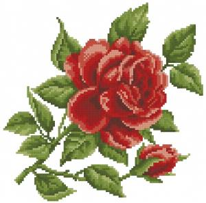 Схема роза красная