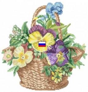 Схема Корзина с цветочками