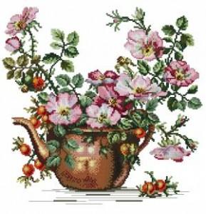 Схема Чайные розы