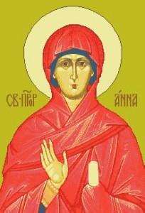 Схема Икона Св. Анна