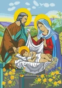 Схема Икона Рожденственская ночь
