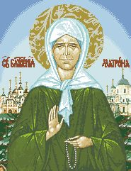 Схема Икона Блаженной Матроны Московской