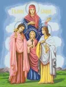 Схема Икона Св. Вера Надежда Любовь и мать их София