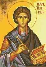 Схема Икона Св. Пантелеймон
